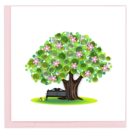 Quilled Spring Tree Greeting Card