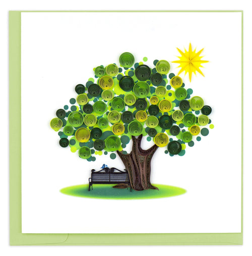 Quilled Summer Tree Greeting Card