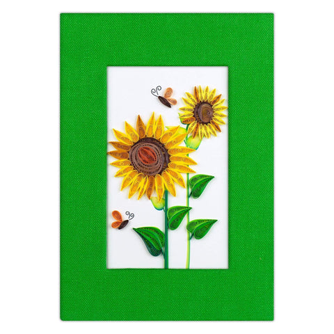 Quilled Sunflower Journal