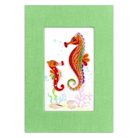 Quilled Seahorse Journal