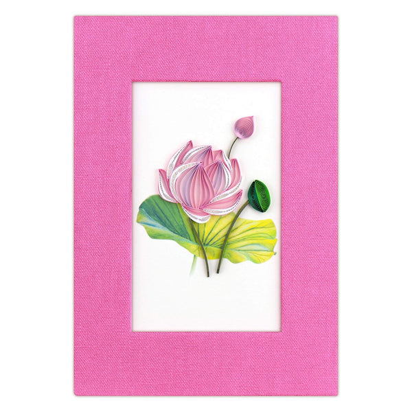 Quilled Pink Lotus Journal