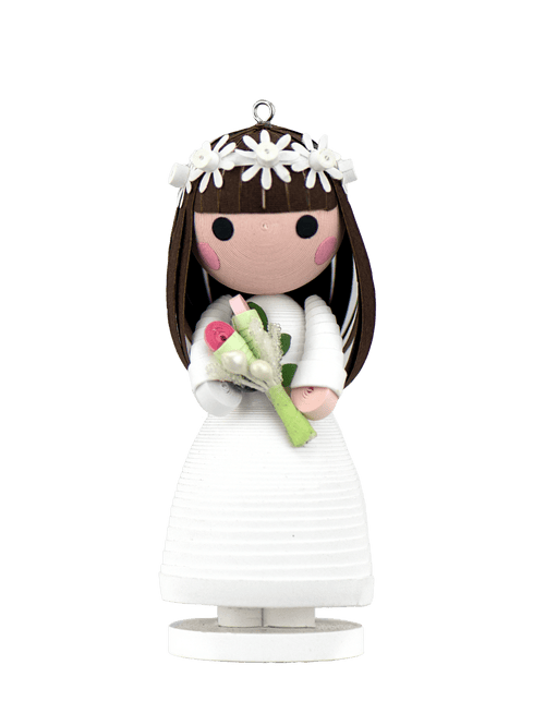 A Quilled Bride Ornament