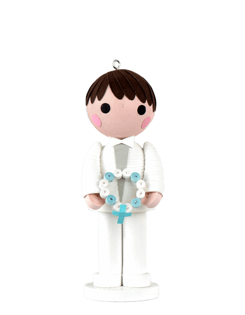 A Quilled First Communion Boy Ornament