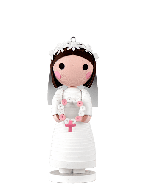A Quilled First Communion Girl Ornament