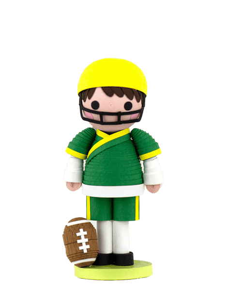 A Quilled Football Player Ornament