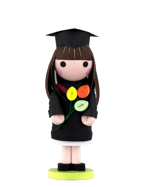 A Quilled Graduation Girl Ornament
