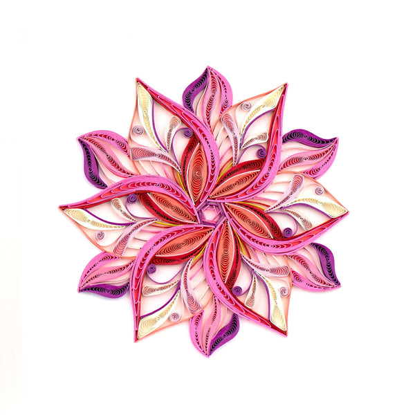 Quilled Pink Flower Art