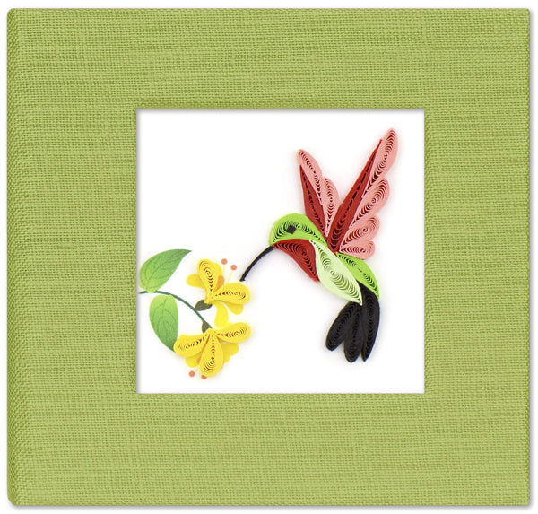 Quilled Hummingbird Sticky Note Pad Cover
