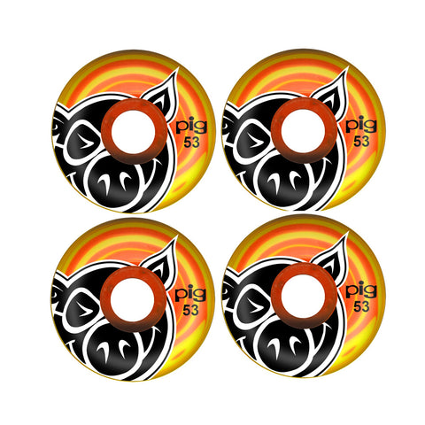 Ruedas Pig - Head Swirls Skateboard Wheels 53mm