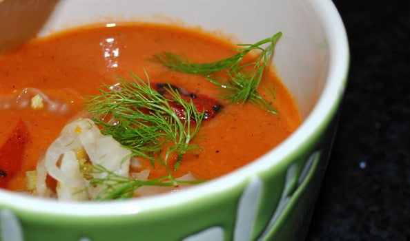 Chef Kucy's Roasted Sweet Pepper Soup