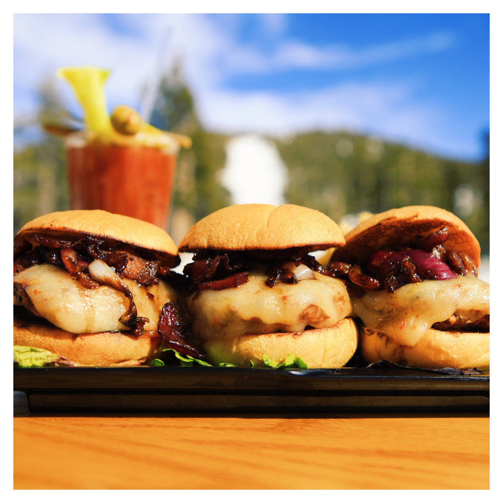 Tamarack Sliders with Bourbon Bacon Onion Relish
