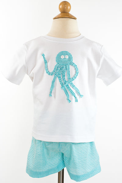Boy Applique- Octopus Size 3T