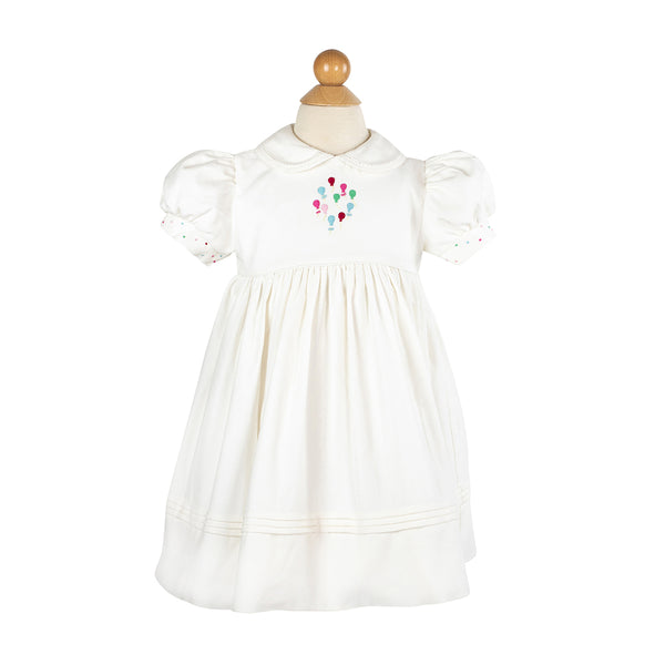 Embroidered Balloon Dress