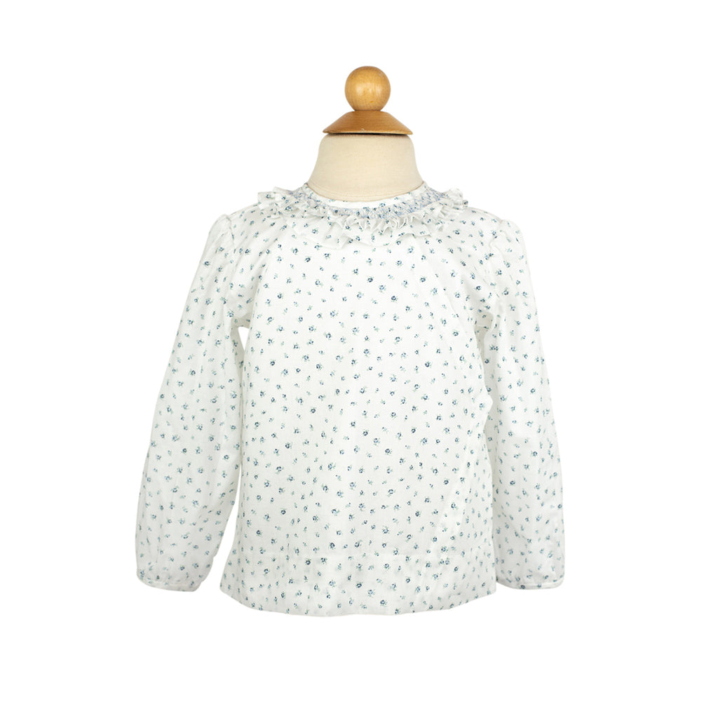 Smocked Swing Top Blouse-AKF