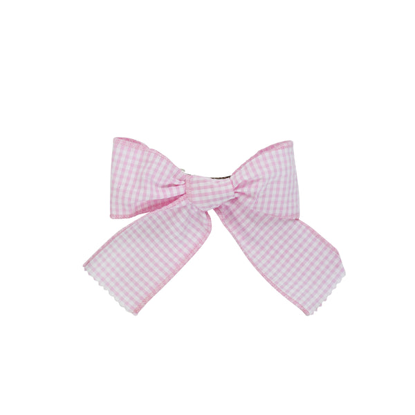 Bow- Pink Seersucker Gingham