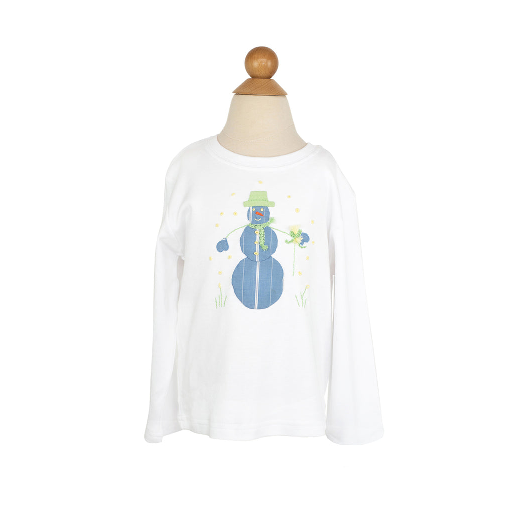 Boy Snowman Applique Shirt
