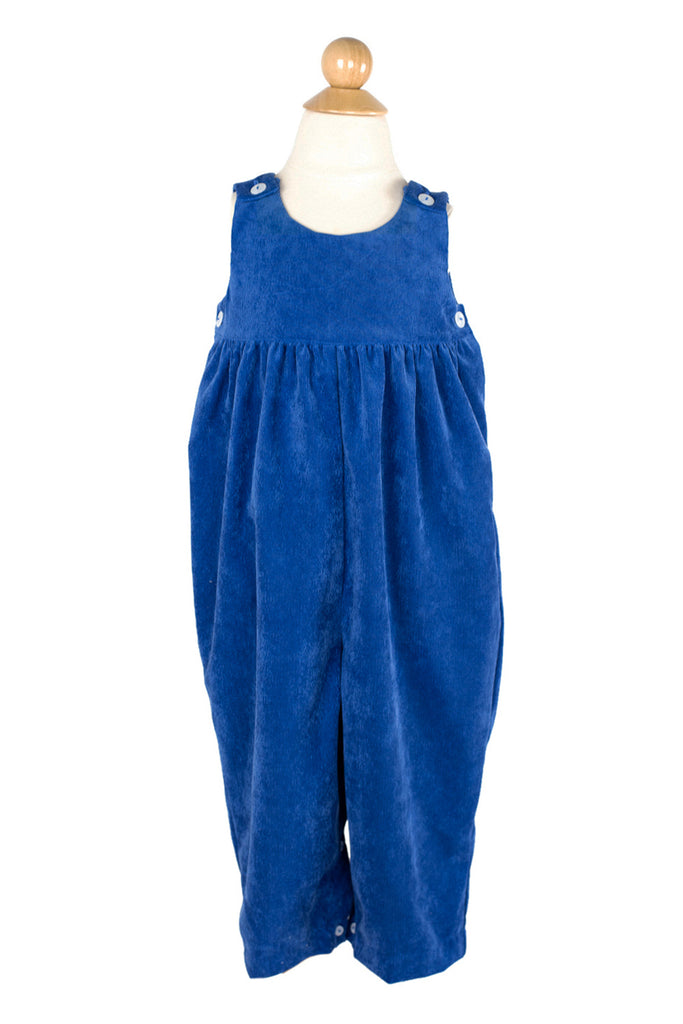 Everyday Overall in Bright Blue Corduroy