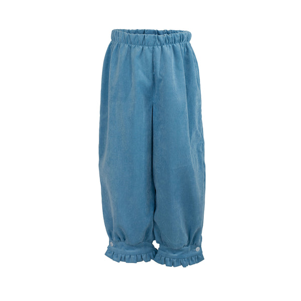 Camille Pants in Poppy Blue Corduroy-AKF