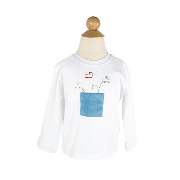 Pockets of Cars Applique Shirt
