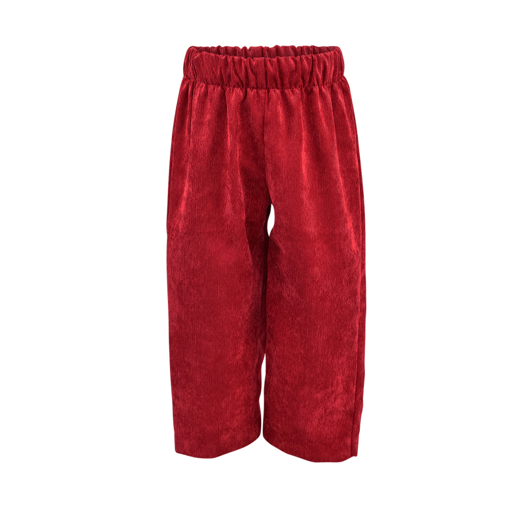 Classic Pant in Red Corduroy
