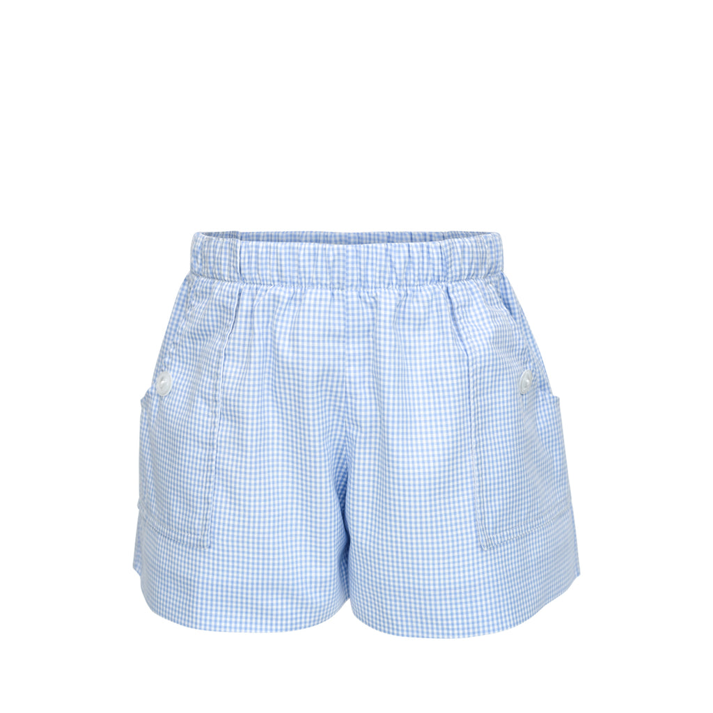 Emme Shorts- Blue Gingham