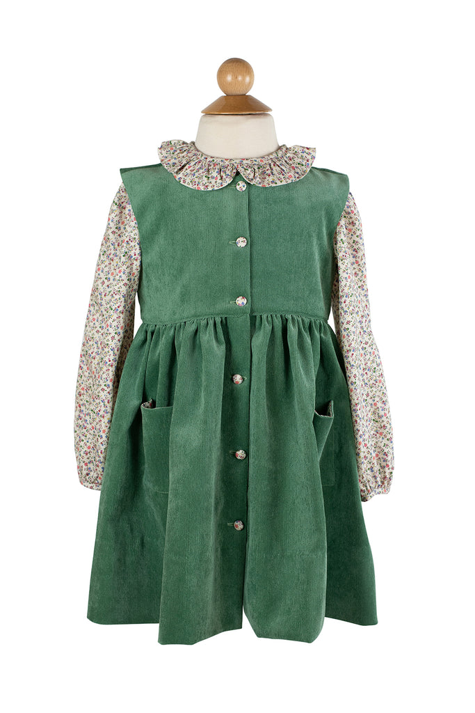 Carlie Jumper in Grass Green Corduroy- Sample Size 4T