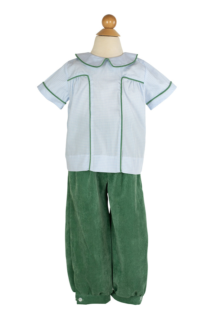 Sam Pant in Grass Green Corduroy- Sample Size 4T