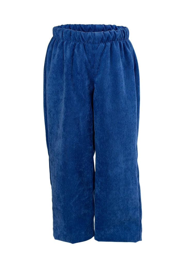 Classic Pant in Bright Blue Corduroy