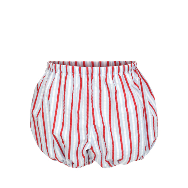 Swimtrunk Bloomer- Red/ White/Blue Seer Stripes