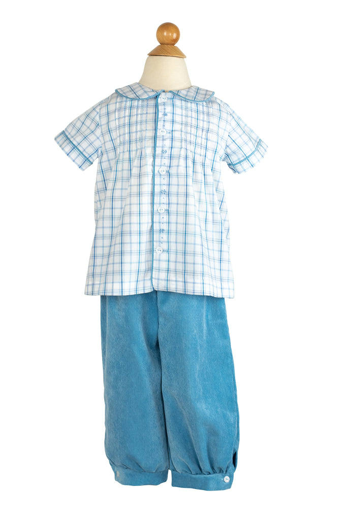 Sam Pant in Poppy Blue Corduroy- Sample Size 2T