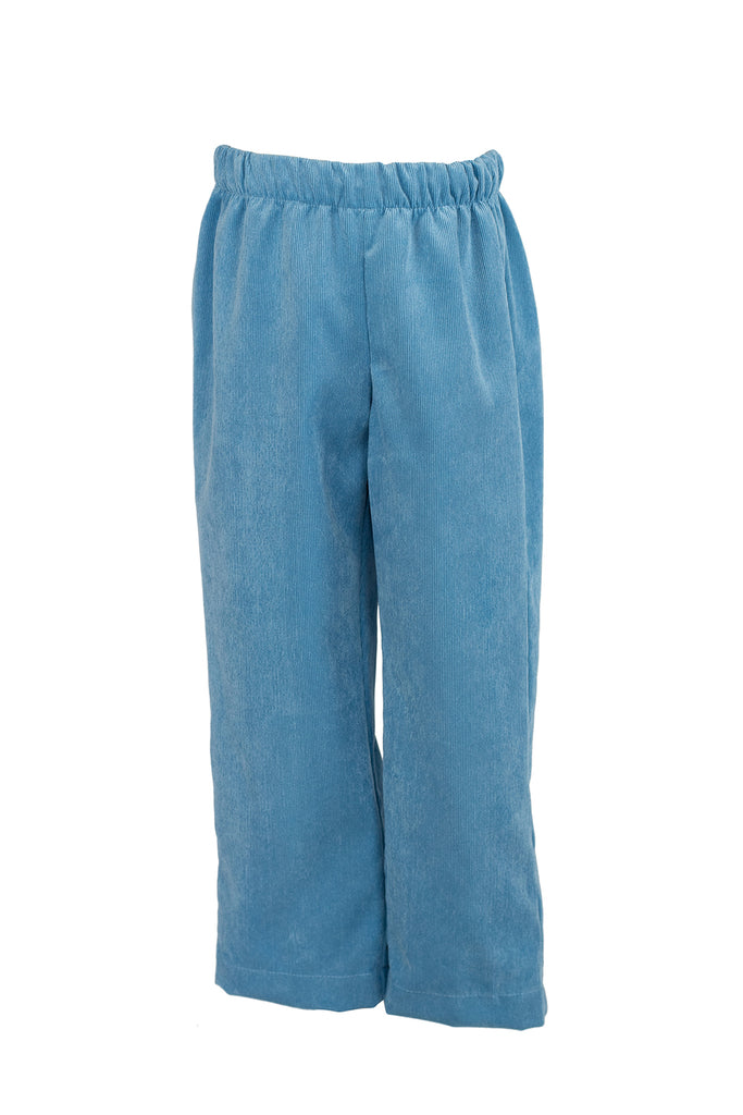 Classic Pant in Poppy Blue Corduroy- Sample Size 4T
