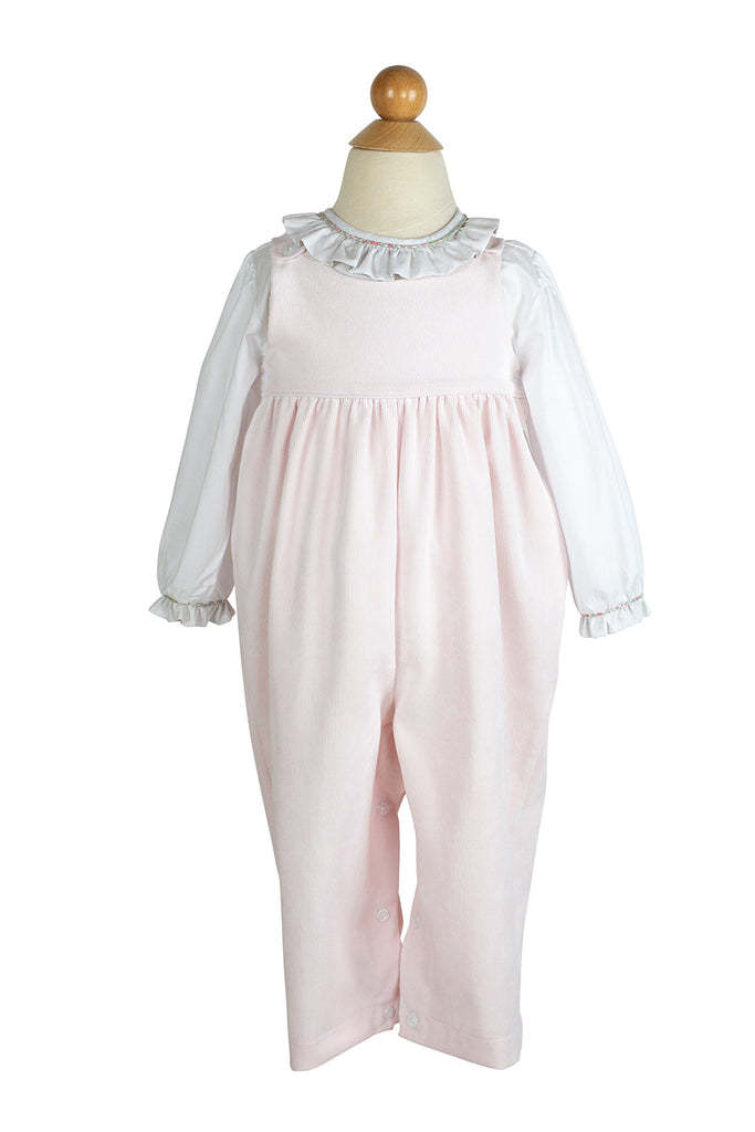 AK Overall in Light Pink Corduroy- Sample Size 18m