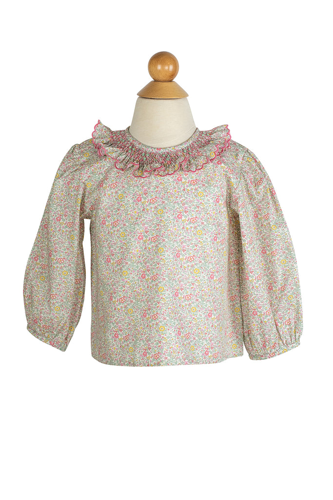 Smocked Ruffle Blouse- Sample Size 18m