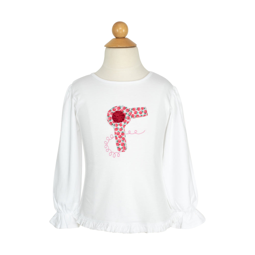 Hair Dryer Applique Shirt