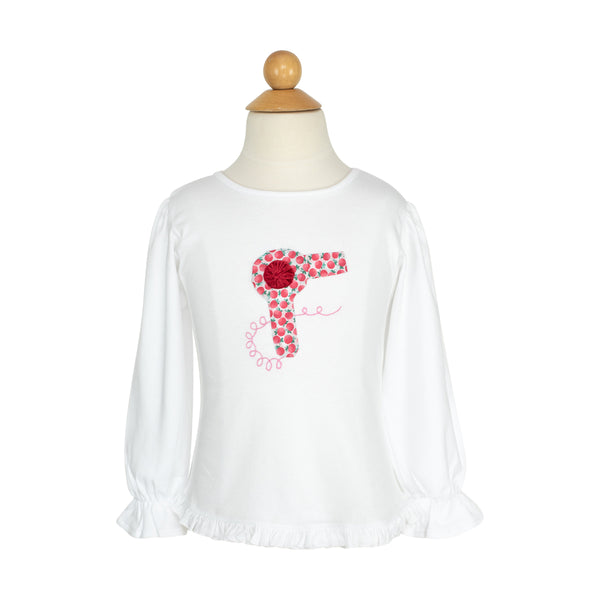 Hair Dryer Applique Shirt-AKF