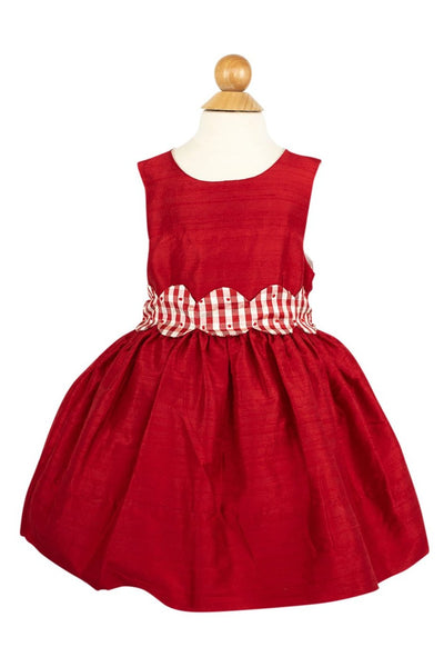 Avery Dress in Red Silk