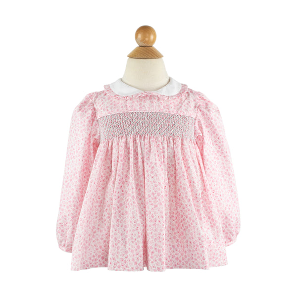 Alice Long Sleeve Blouse - Pink Roses