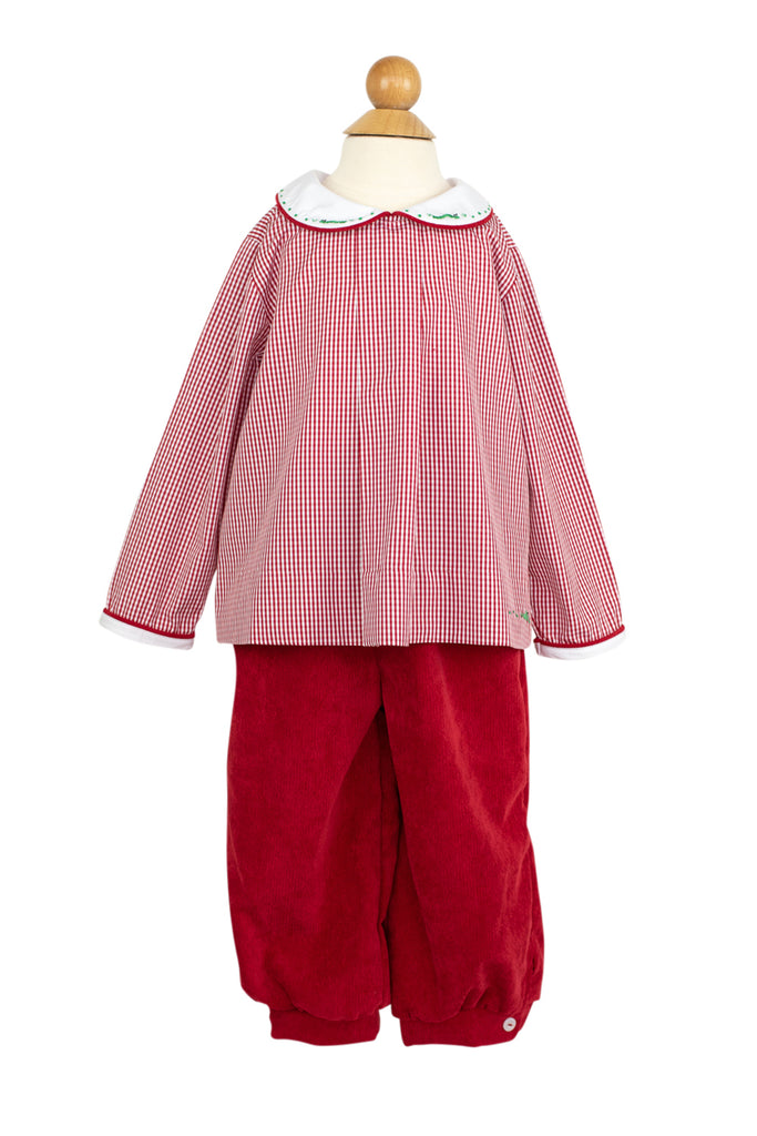 Sam Pant in Red Corduroy- Sample Size 2T