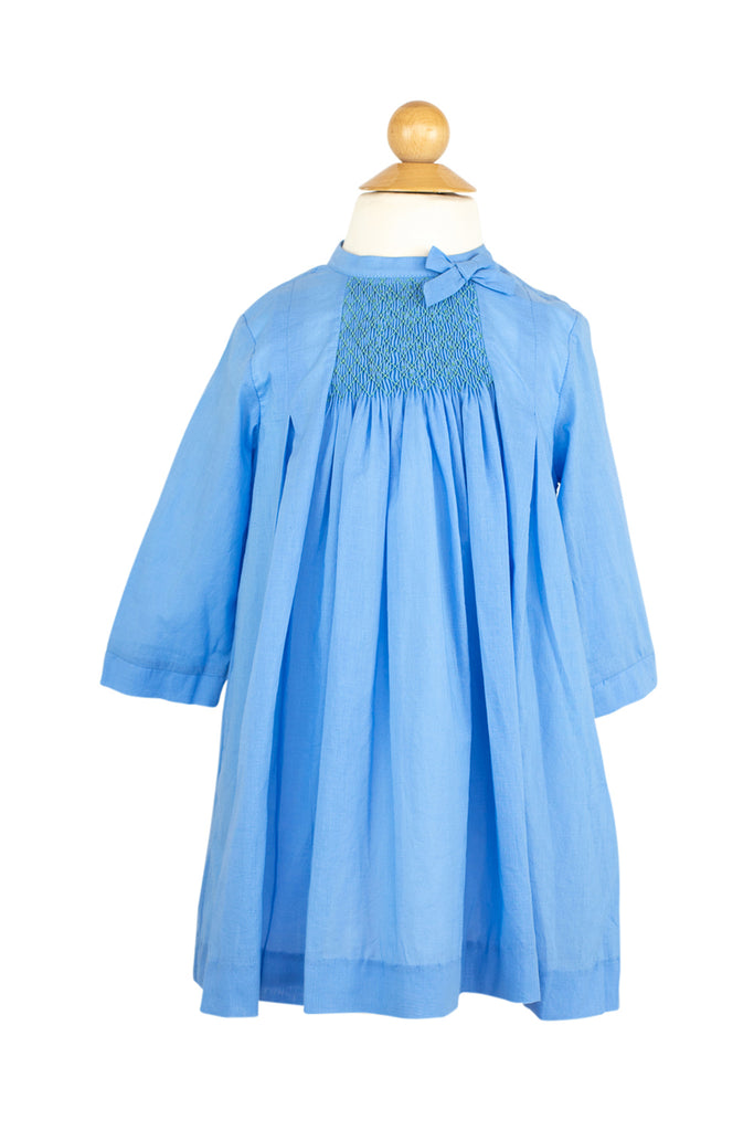 AK Smocked Tunic Bow Dress- Sample Size 4T