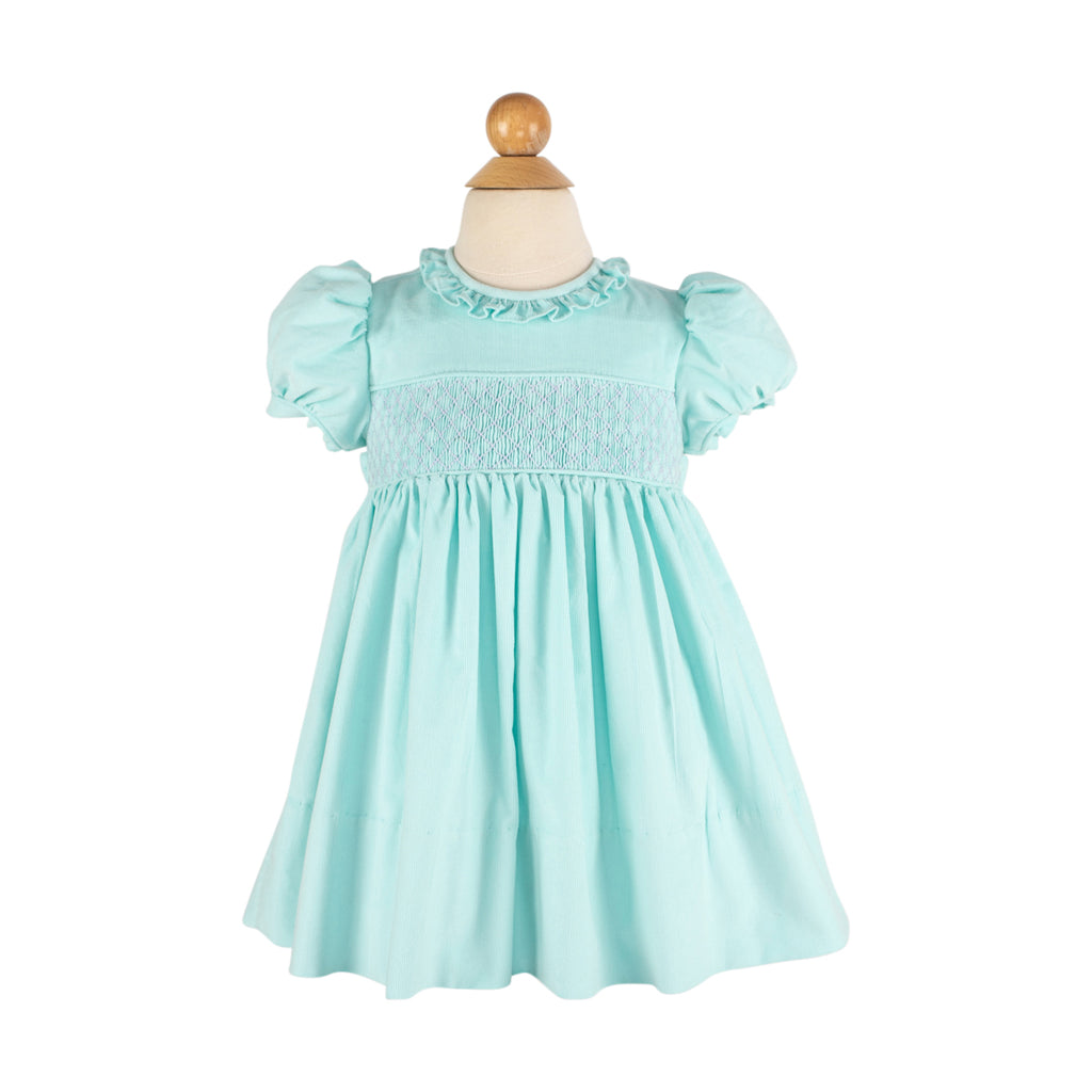 Ruby Dress- Aqua Corduroy-AKF
