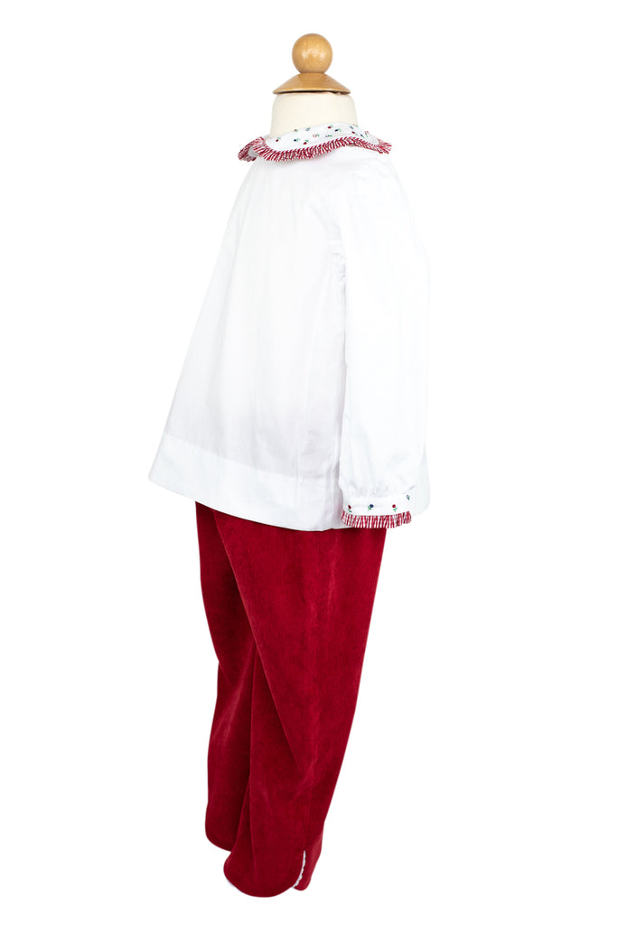 Carolyn Pant in Red Corduroy- Sample Size 4T