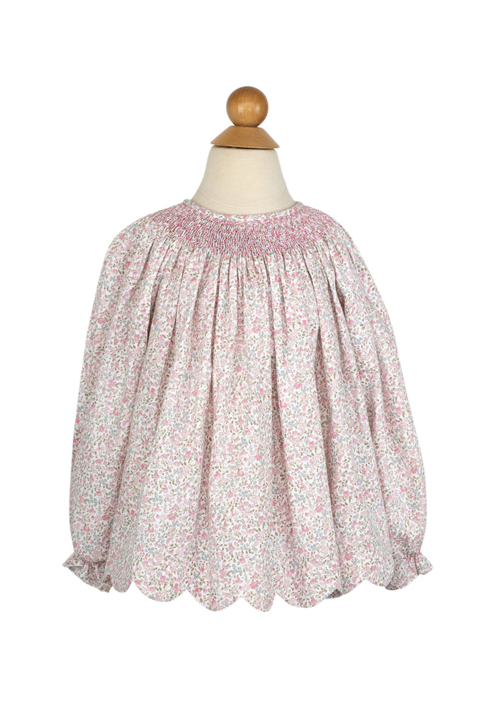 Betsy Blouse in Flower Bunches Brushed Twill- Sample Size 3T