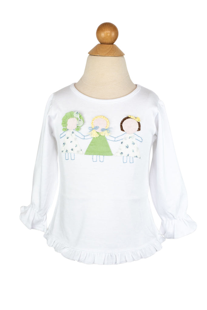 Paperdolls Applique Shirt- Sample Size 18m