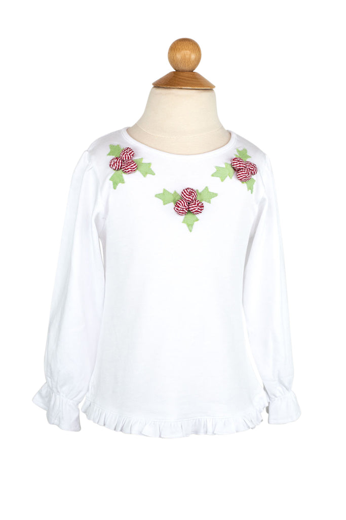 Holly Applique Shirt- Sample Size 4T
