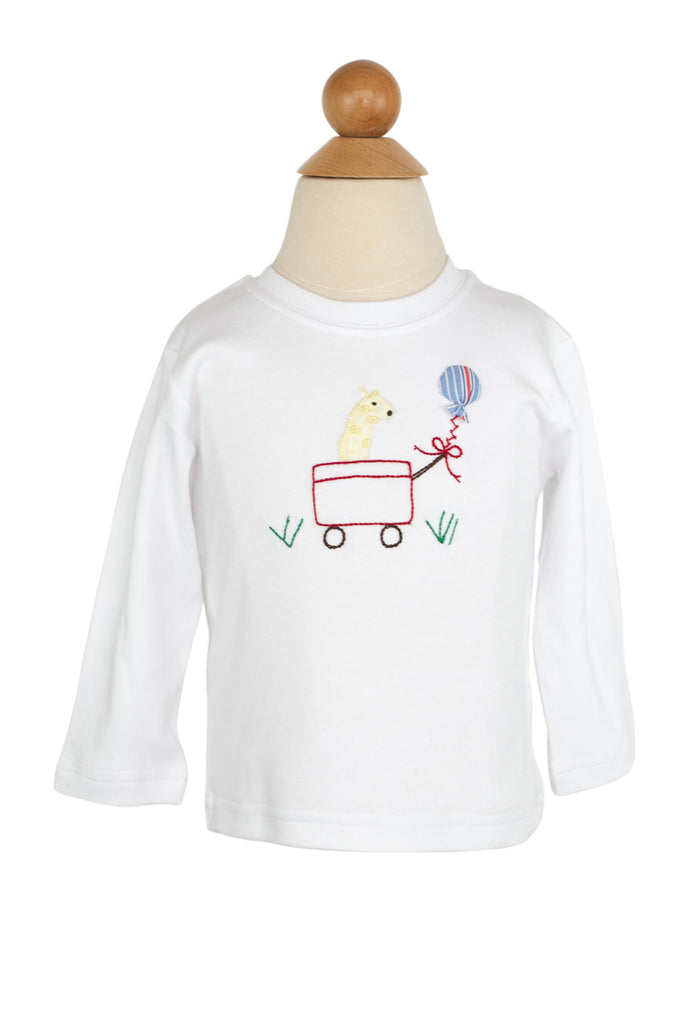 Wagon Applique Shirt- Sample Size 12m