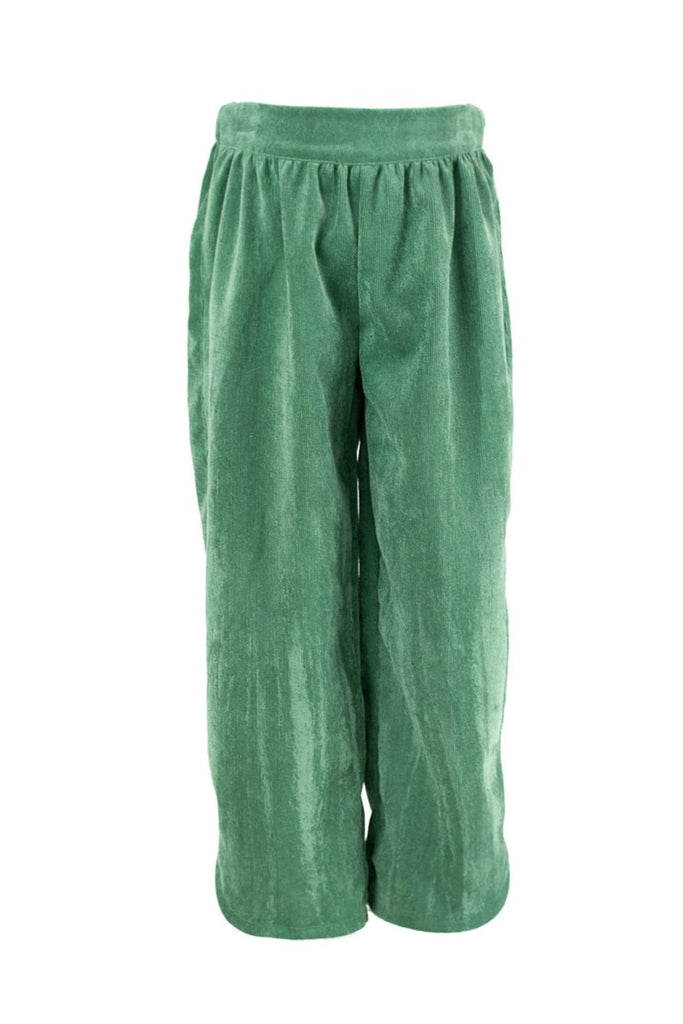 Carolyn Pant in Grass Green Corduroy