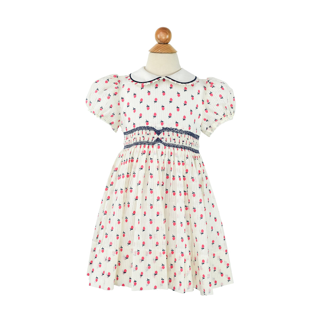 Poplin Dress- Scattered Poppies-AKF