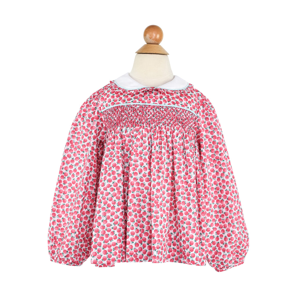 Alice Blouse- Pink Poppies-AKF