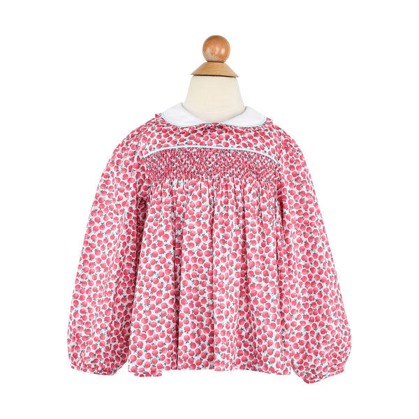 Alice Blouse- Pink Poppies
