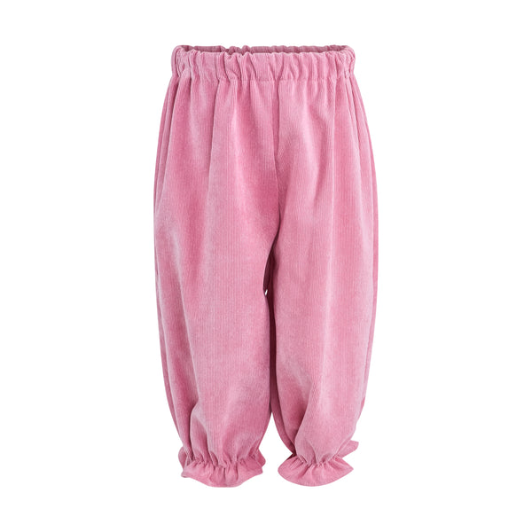 Kate Bloomer Pant - Pink Poppy Non Wrinkle Corduroy Sample Size 18m